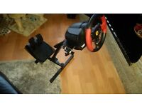 Thrustmaster T150 force feedback steering wheel and pedals. Ps4 Ps3 PC