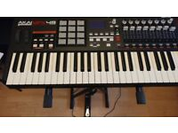 AKAI MPK49 USB/MIDI Keyboard Controller (49 Keys) with free stand and pedal