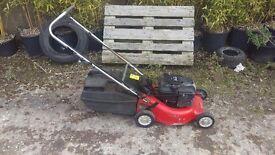 Rover electric start push lawnmower aluminium deck