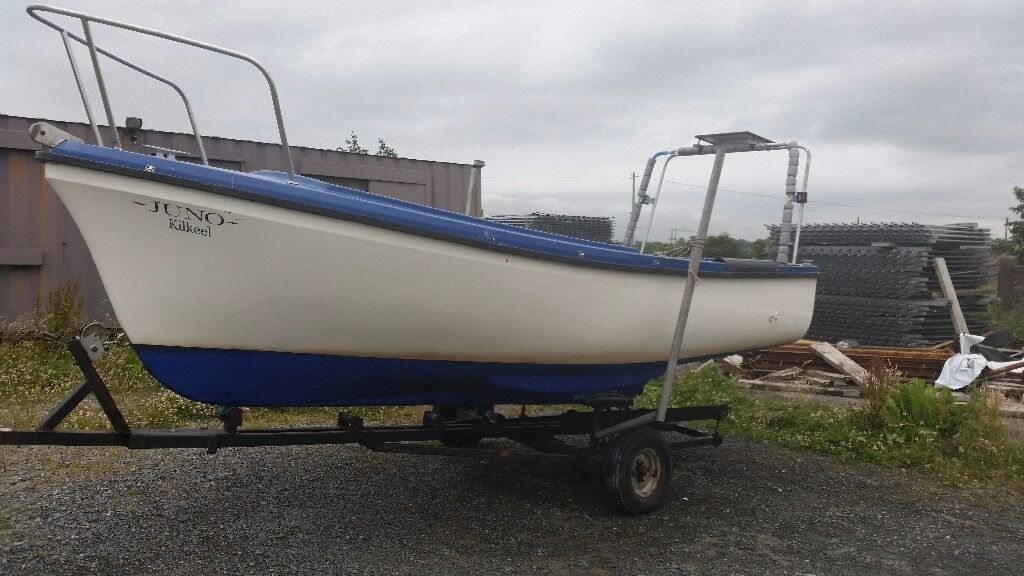 16 ft oyster open boat with mariner engine in belfast for 16 foot aluminum boat motor size