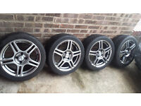 4 Alloys wheels with tyres 205/45/16