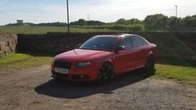 Audi S4 4.2 V8 in excellant condition inside and out only 82,000 mile sat nav, tv in rear, leather