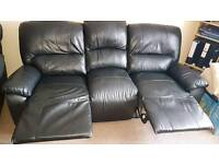 3 seater leather sofa plus 1 arm chair