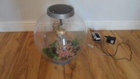BIORB 30 LITRE FISH TANK WITH PUMP LIGHT HEATER STONES ETC