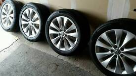"""Vauxhall Astra GTC 18"""" Alloy Wheels With Continental Tyres As New"""