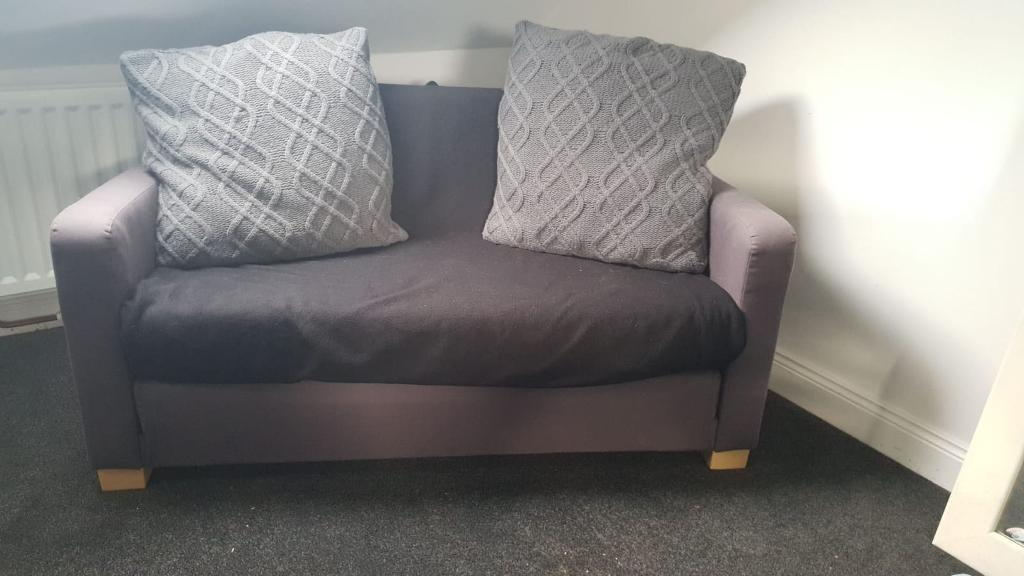 Ikea sofa bed small double in grey   in North Shields ...
