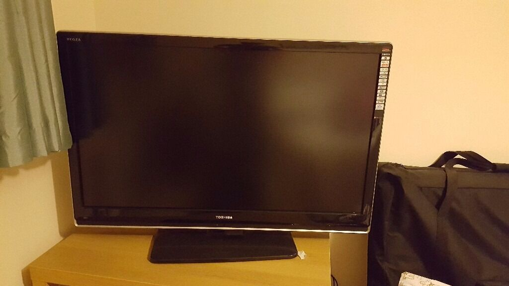 42 inch television, youview box and dvd player