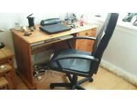 Pine desk/chair