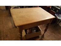 Victorian Kitchen Table with drawer