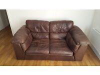 LEON Italian natural leather 2 seater sofa