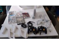 Nintendo Wii with 7 games and accessories