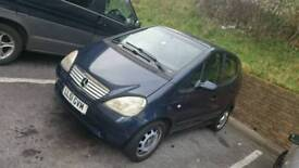Mot July 2018 Mercedes A160 for swaps or 400