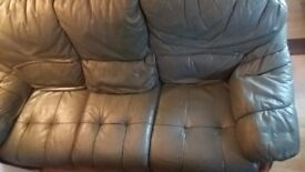 Top quality 3 piece suite .real leather .green