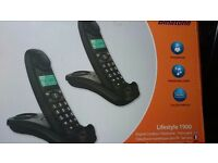 BINATONE TWIN CORDLESS PHONE SET