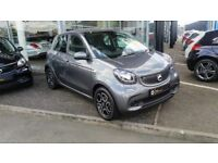 2017 Smart Forfour 0.9 turbo 90 prime premium auto sat nav pan roof heated leather top spek zero tax