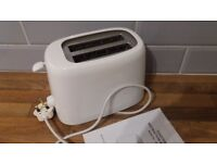 Toaster. 2 slice. White. 700W Variable control. A few months old. Very little use. Excellent & clean