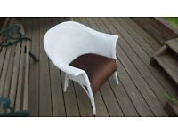 Lloyd Loom or similar basket weave chair.