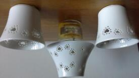 Yankee Candle shade and 2 votive holders