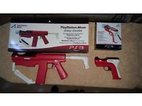 PLAYSTATION MOVE SHARP SHOOTER AND SHOOTING ATTACHMENTS : FOR USE WITH PS3 AND MOVE CONTROLLERS