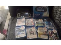 Crystal Black ps vita wifi case plus 7 games boxed
