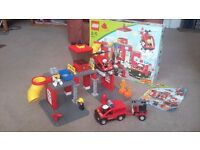 Duplo lego ville fire station set. Boxed with instructions.