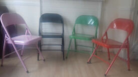 Four colorful chairs