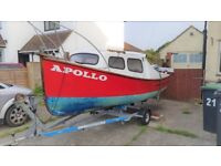 REDUCED!! - Fishing Boat with 20HP Outboard and Trailer