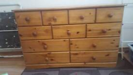 oak effet chest of draws