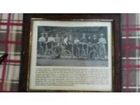 Heanor,Derbyshire cyclists circa 1908 framed print