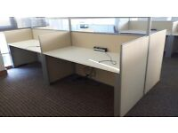 Office 4 person workstation top spec