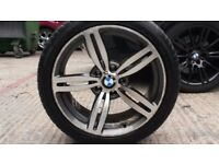 BMW M6 MTECH SPORT F TYPE 18in DIAMOND CUT ALLOY WHEELS WITH TYRES X4