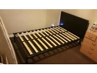 double bed frame, optionally with mattress
