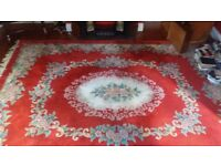 Large Wool Rug Chines design