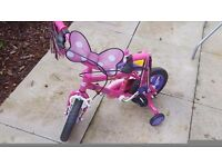 Little girls bike for sale brand new...minnie mouse themed