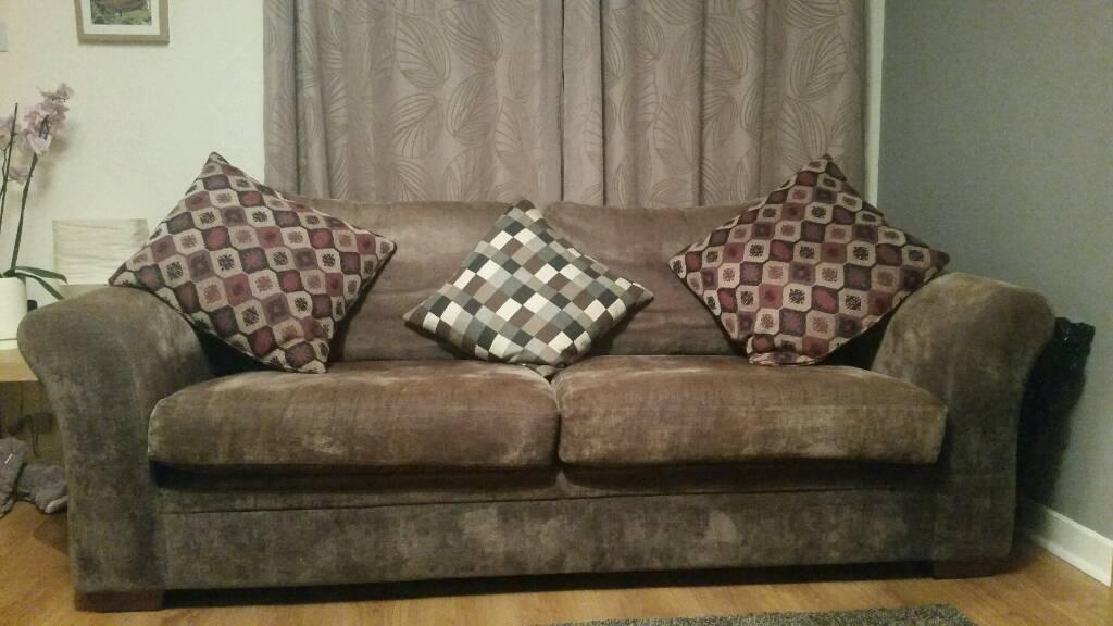 next brown sofa suede