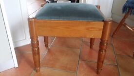 Wooden Piano Stool with under seat storage - Pine colour