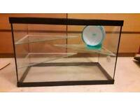 Glass hamster gerbil cage