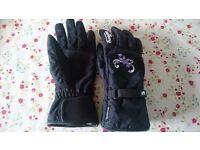 LADIES MOTORCYCLE GLOVES - Furygan Raindrop Lady Evo waterproof motorcycle gloves (As new)