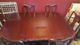 Mahogany table seats 10
