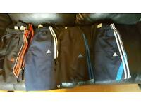 4 pairs size 11/12 age Adidas track suit bottoms