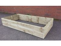NEW RAISED FLOWER BEDS, QUALITY HANDMADE, VEG,HERB,FLOWER PLANTERS, MANY SIZES & COLOURS.