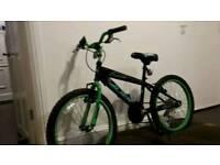 "Kids mountain bike alien concept 5 speed twist gears v.g.c .20 "" wheels ,ready to ride hardly used."
