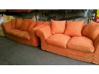 Duck feather filled sofa set with removable covers