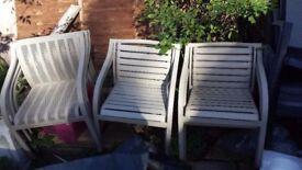 Outdoor Chairs, used, 8 Chairs for £150 total