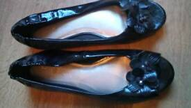 Black patent ballet pumps - Lindsay Phillips - size 41