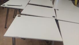office desk Ikea white with adjustable legs