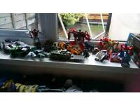 Bundle of boys action toys ie transformers Ben 10 iron man