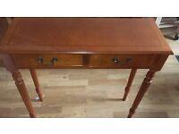 Small 2 door rosewood hall table