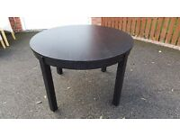 Ikea BJURSTA Round Extending Table 155/166cm FREE DELIVERY (03005)