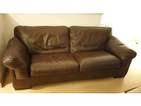 Luxury 3 Seater Leather Sofa originally from John Lewis